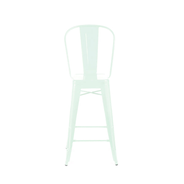Counter Chairs - Design Lab MN LS-9102-PEPHB Dreux Matte Mint High Back Steel Counter Stool 26 Inch (Set of 4) | 655222619921 | Only $199.80. Buy today at http://www.contemporaryfurniturewarehouse.com