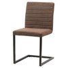 Gerald PU Leather Chair (Set of 2) Kalahari Brown