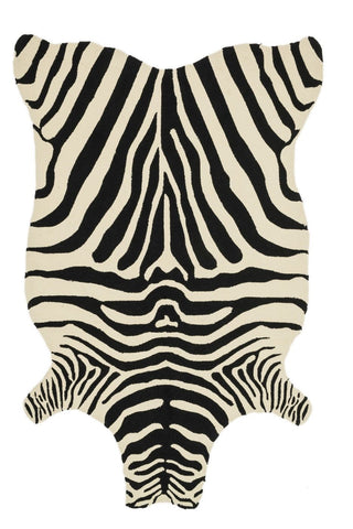 Animal, Black & Greys, Indoor/Outdoor, Ivory & Whites, Rugs - Loloi Rugs ZADIZD-01BLIV3656 Loloi Zadie Black / Ivory Area Rug | 885369232817 | Only $179.00. Buy today at http://www.contemporaryfurniturewarehouse.com