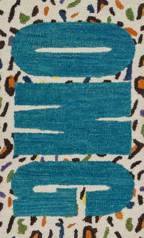 Loloi Skylar Cheetah / Blue Area Rug