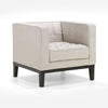 Armchairs, Sale - Armen Living LC10101CR Roxbury Arm Chair In Tufted Cream Fabric | 608938683090 | Only $559.80. Buy today at http://www.contemporaryfurniturewarehouse.com