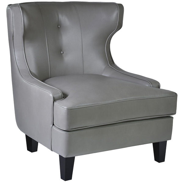 Skyline Armchair In Smoke Bonded Leather
