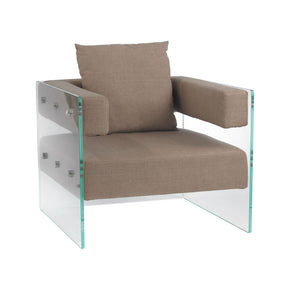 Frankfurt Chair Clear,light Brown Armchair
