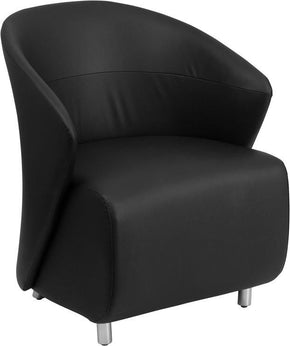 Black Leather Reception Chair Armchair