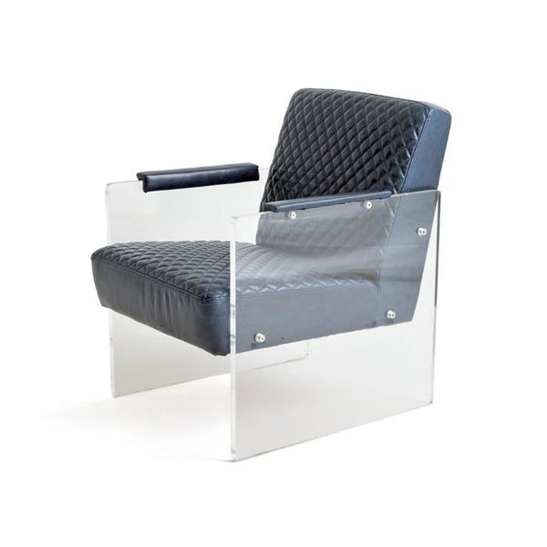 Susie Leather / Transparent Acrylic Chair Armchair