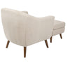 Rockwell Chair With Ottoman Beige Armchair