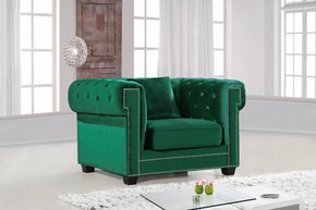 Bowery Green Velvet Chair Armchair