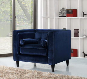 ArmChairs - Meridian 642Navy-C Taylor Navy Velvet Chair | 635963990787 | Only $494.80. Buy today at http://www.contemporaryfurniturewarehouse.com