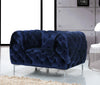 Mercer Navy Velvet Chair Armchair