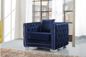 Reese Navy Velvet Chair Armchair