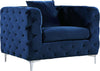 ArmChairs - Meridian 663Navy-C Scarlett Navy Velvet Chair | 647899946813 | Only $589.80. Buy today at http://www.contemporaryfurniturewarehouse.com