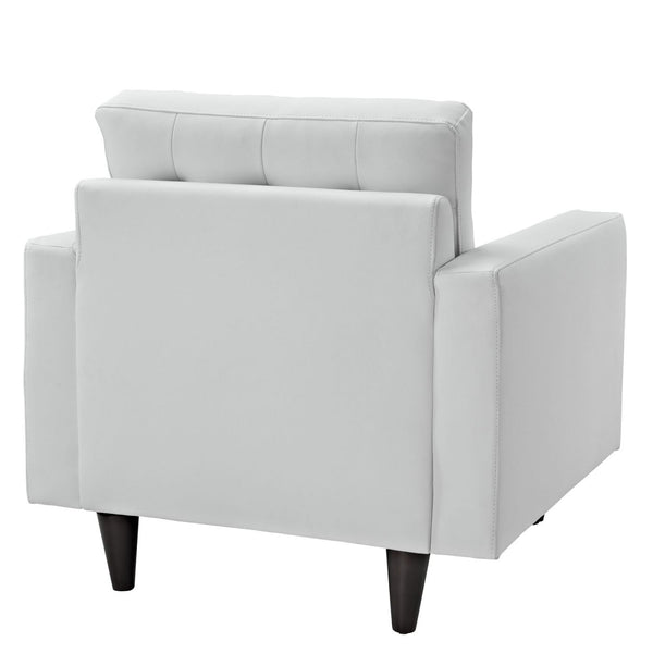 Armchairs - Modway EEI-1012-WHI Empress Bonded Leather Armchair | 848387010676 | Only $350.75. Buy today at http://www.contemporaryfurniturewarehouse.com