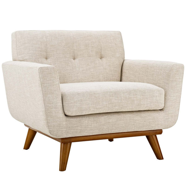 Armchairs - Modway EEI-1178-BEI Engage Upholstered Armchair | 889654111825 | Only $535.25. Buy today at http://www.contemporaryfurniturewarehouse.com