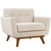 Armchairs - Modway EEI-1178-BEI Engage Upholstered Armchair | 889654111825 | Only $523.75. Buy today at http://www.contemporaryfurniturewarehouse.com