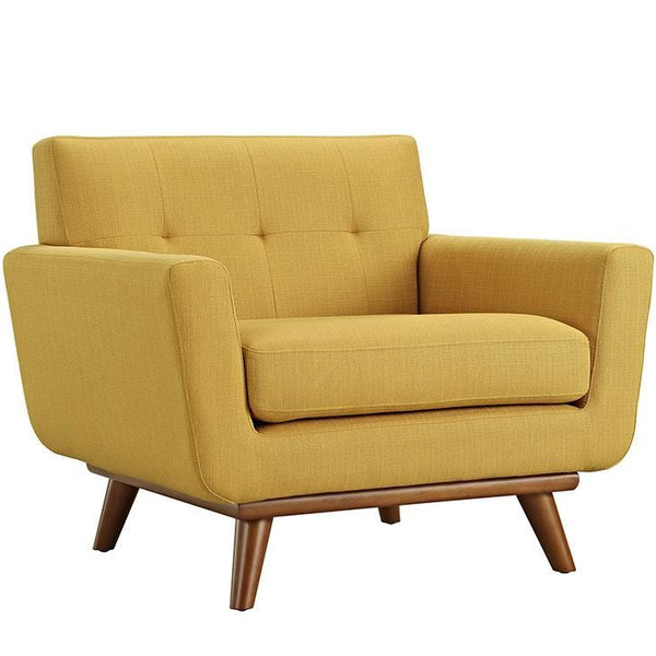 Armchairs - Modway EEI-1178-CIT Engage Upholstered Armchair | 848387039011 | Only $535.25. Buy today at http://www.contemporaryfurniturewarehouse.com
