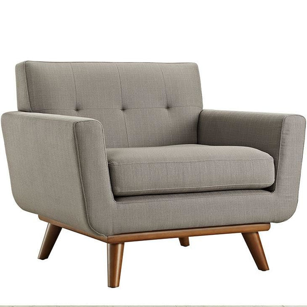 Armchairs - Modway EEI-1178-GRA Engage Upholstered Armchair | 848387039028 | Only $527.25. Buy today at http://www.contemporaryfurniturewarehouse.com