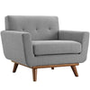 Armchairs - Modway EEI-1178-GRY Engage Upholstered Armchair | 848387039035 | Only $523.75. Buy today at http://www.contemporaryfurniturewarehouse.com