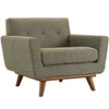 Armchairs - Modway EEI-1178-OAT Engage Upholstered Armchair | 848387017446 | Only $540.75. Buy today at http://www.contemporaryfurniturewarehouse.com