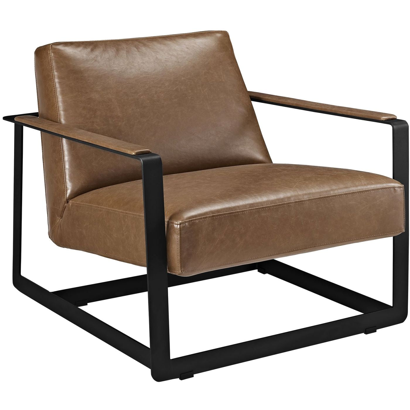 Surprising Modway Armchairs On Sale Eei 2075 Brn Seg Upholstered Faux Leather Accent Chair Brown Only Only 619 80 At Contemporary Furniture Warehouse Creativecarmelina Interior Chair Design Creativecarmelinacom