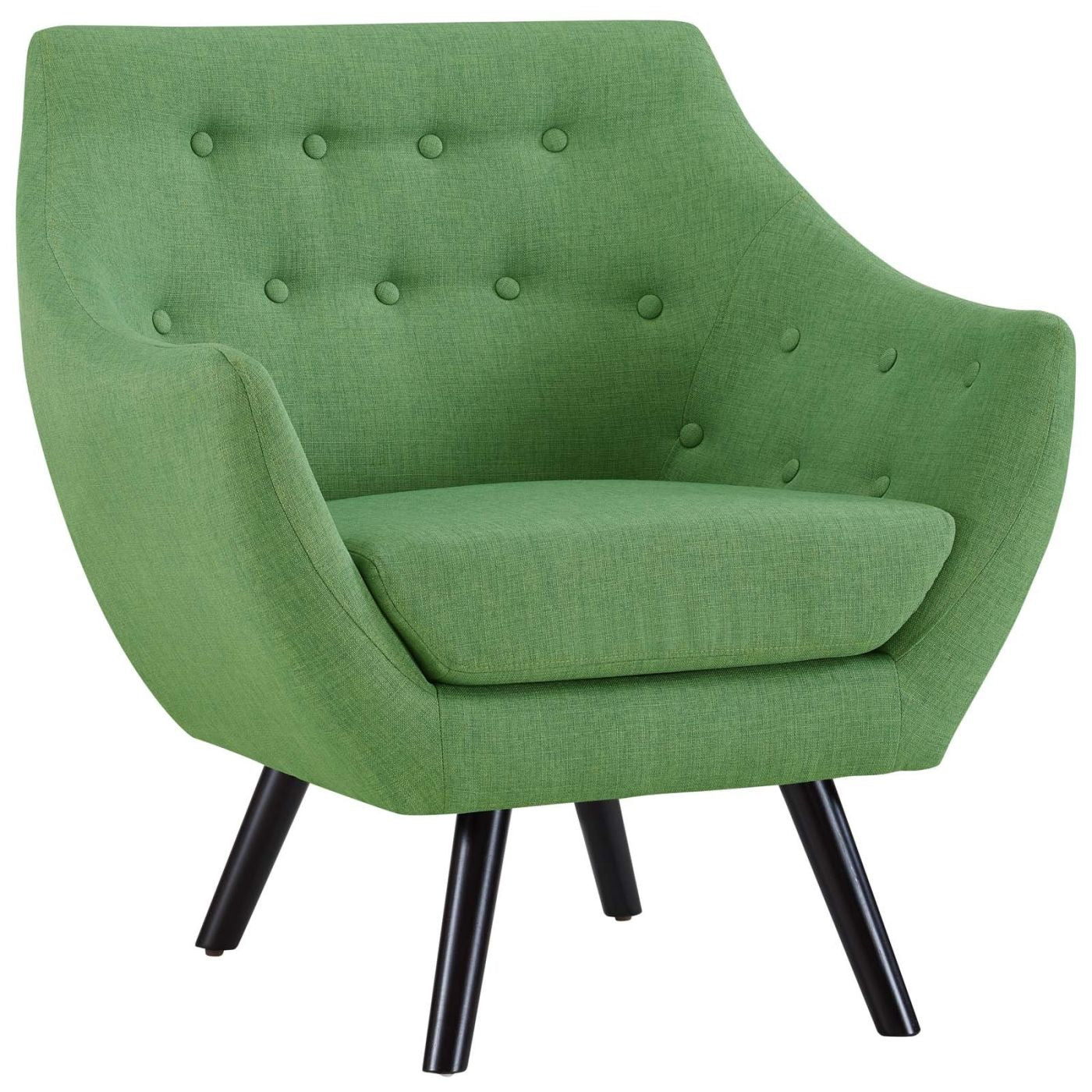 Allegory contemporary mid century fabric armchair green