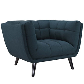 Bestow Upholstered Fabric Armchair Blue
