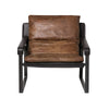 Connor Club Chair - Distressed Brown Top Grain Leather