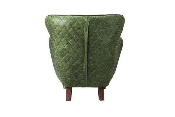 Keaton Leather Arm Chair Emerald Armchair Keaton Leather Arm Chair Emerald  Armchair ...
