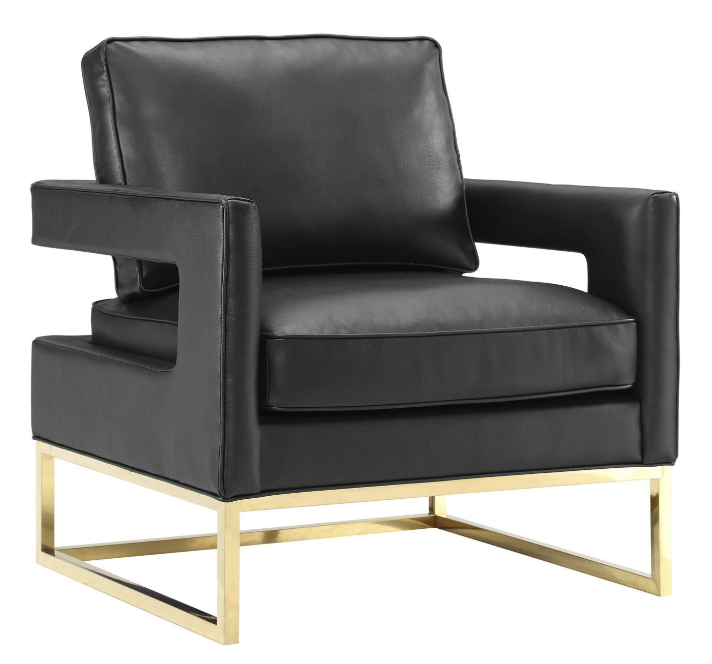 Black and gold furniture at contemporary furniture warehouse