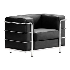 Fortress Arm Chair Black Chromed Steel Armchair