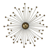 Withington Abstract Starburst Wall Décor By Gold Paint With Champagne Antique Wash Art