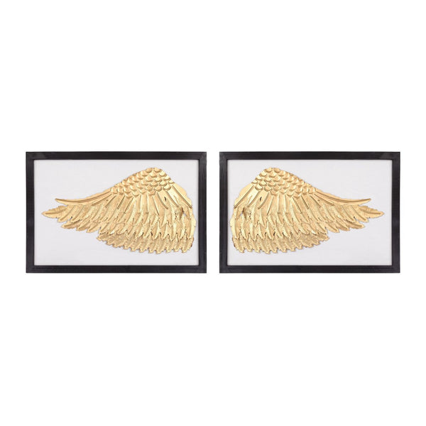 Ikaros Wall Decor Gold,white Art
