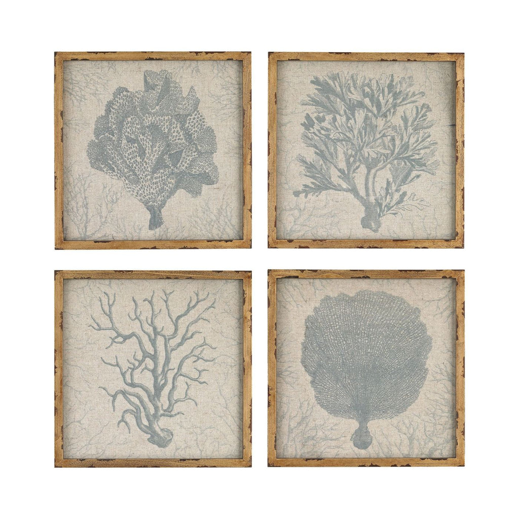 Coral Prints On Linen Print,natural Art