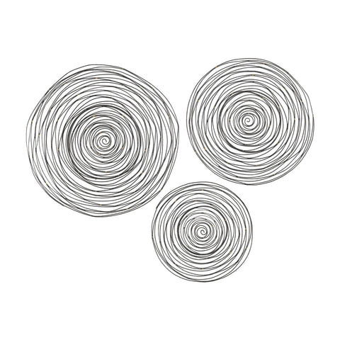 Art - Elk Group ELK-3138-276/S3 Triskele Gunmetal Grey with Gold 16-24 Inch Set of 3 Raw Iron Spiral Wall Decor Soldered Raw Iron | 843558150496 | Only $210.60. Buy today at http://www.contemporaryfurniturewarehouse.com