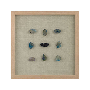 Blue Agate Gems Shadow Box Art