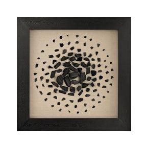 Black And White Carbon Shadow Box Black,white Art