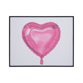 Balloon Love Grain De Bois Noir Art