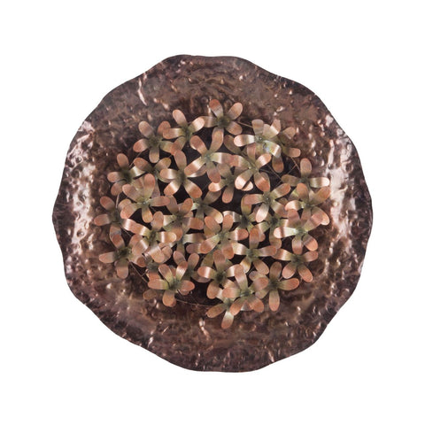 Bronze Poppy Bunch Wall Plate Bronze,gold Art