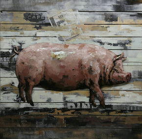 Country Pig Wall Décor Art
