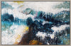 Whitecaps Wall Decor W/Frame Acrylic Painting Canvas