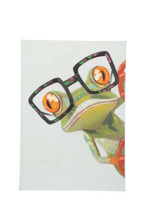 Peeking Frog Wall Décor Oil Painting Canvas Art