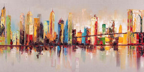 Art - Moes Home Collection WP-1105-37 Raw City At Large Oil Canvas | 849043009096 | Only $358.00. Buy today at http://www.contemporaryfurniturewarehouse.com