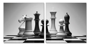 Checkmate 28 X Each Piece Acrylic Black And White Painting Art