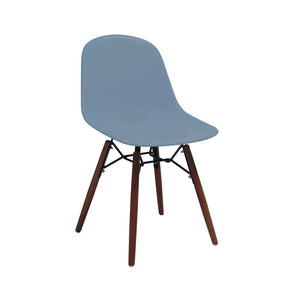 DesignLab MN LS-9441-SLAWAL Grazia Slate Mid Century Side Chair Walnut Base Original Design (Set of 4) 646263991527