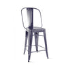 Dreux Dark Gunmetal Steel Counter Chair 24 Inch (Set of 4)
