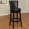"Bar Chairs - Armen Living LC4044BABL26 Boston Swivel Barstool In Black Bonded Leather 26"" seat height 