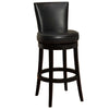 "Bar Chairs - Armen Living LC4044BABL30 Boston Swivel Barstool In Black Bonded Leather 30"" seat height 