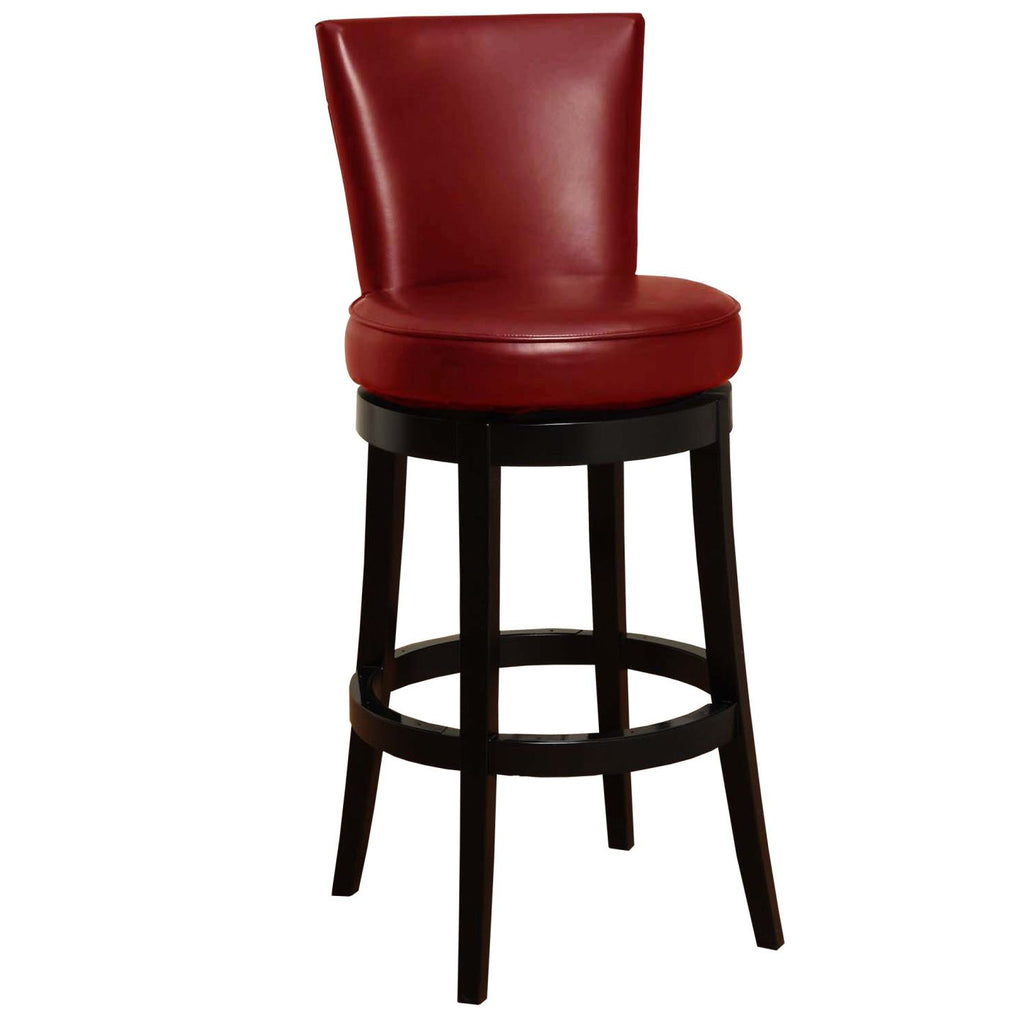 "Bar Chairs - Armen Living LC4044BARE30 Boston Swivel Barstool In Red Bonded Leather 30"" seat height 