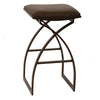 Harper 30 Modern Barstool In Coffee And Auburn Bay Metal Bar Chair