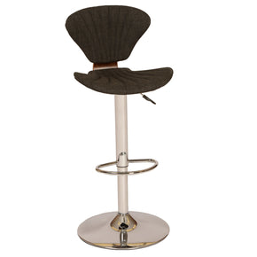 Lisa Modern Swivel Barstool In Charcoal And Chrome Bar Chair