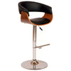 Bar Chairs - Armen Living LCPASWBABLWA Paris Swivel Barstool In Black PU/ Walnut and Chrome Base | 638170583209 | Only $139.00. Buy today at http://www.contemporaryfurniturewarehouse.com